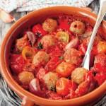 Chiftele cu roșii la cuptor