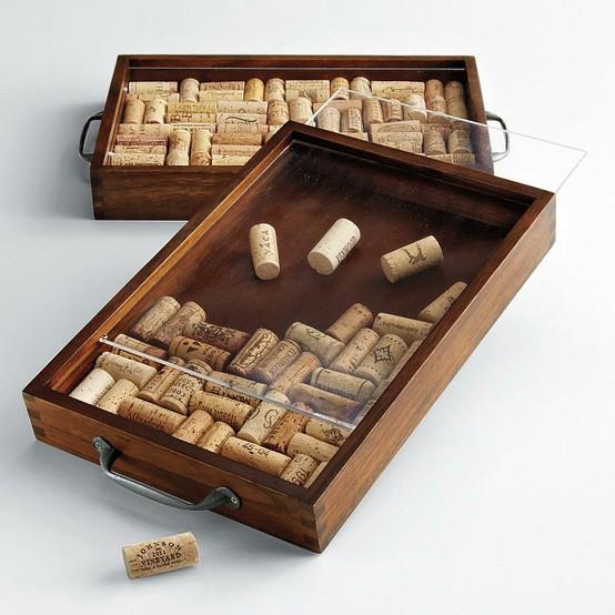 Red Envelope Wine Cork customizable tray