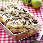 Prăjitură cu pișcoturi și pere