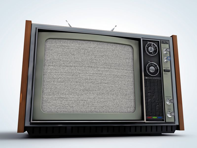 13308132 - old tv retro style isolated on white background