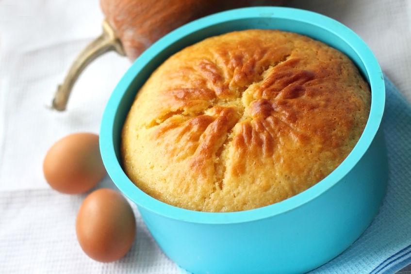26730780 - orange and pumpkin pie in silicone bakeware
