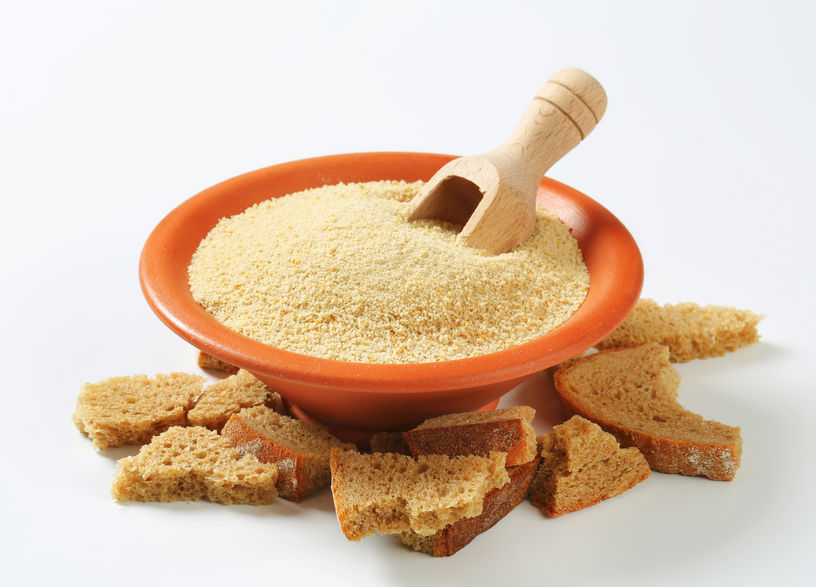 42831212 - bowl of dry bread crumbs