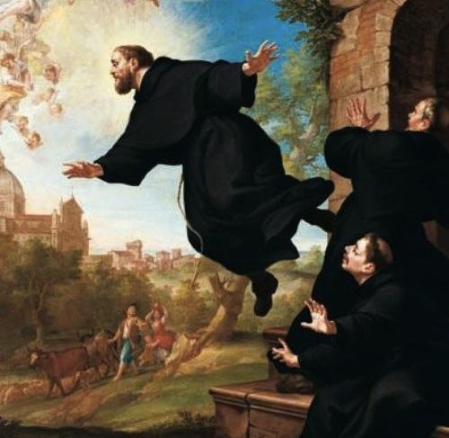 Sf. Iosif din Copertino, ridicându-se în aer în fața călugărilor franciscani