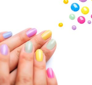 20934458 - nail polish trendy colourful manicure
