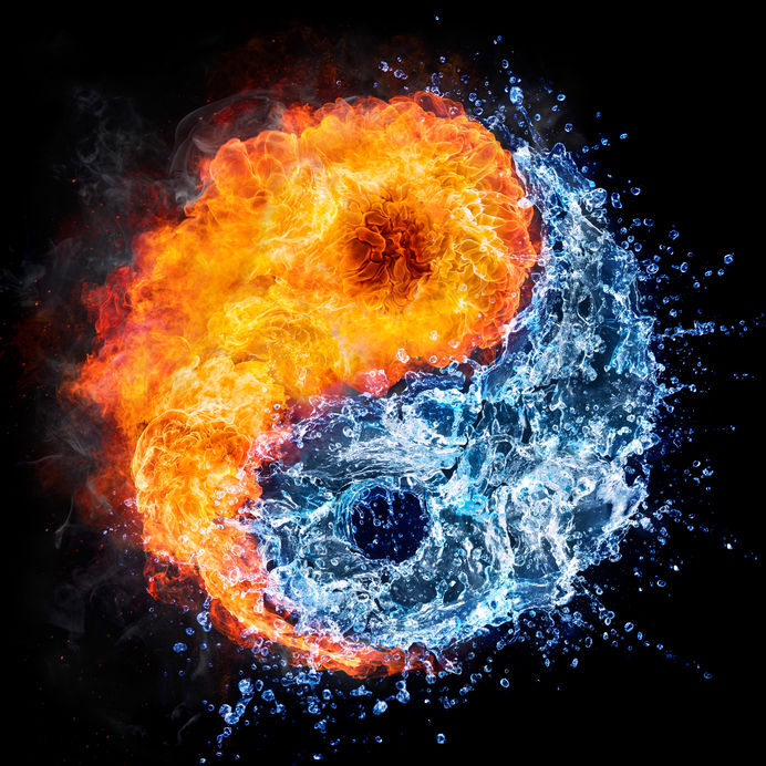 44244034 - fire and water - yin yang concept - tao symbol