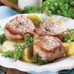 Mușchi de porc gătit cu muștar