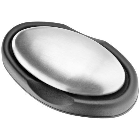 Săpunul de inox se folosește ca un săpun obișnuit pentru a îndepărta mirosurile neplăcute