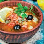 supă rusească de pește cu măsline
