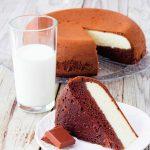 prăjitură cu cacao și brânză de vaci