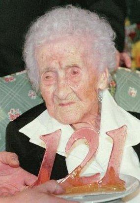 Jeanne Calment, la vârsta de 121 de ani
