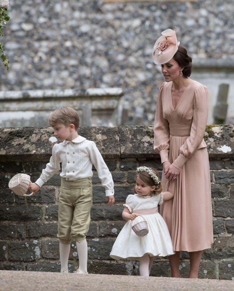 Ducesa Kate cu Charlotte șI geroge, la nunta Pippei Middleton