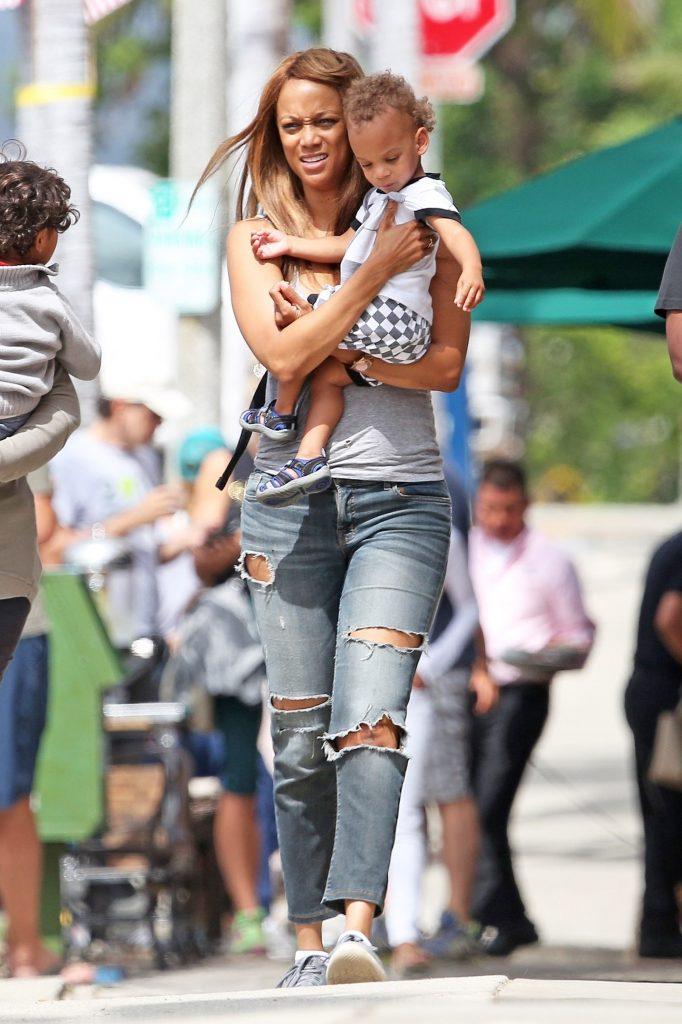 Tyra Banks si fiul ei