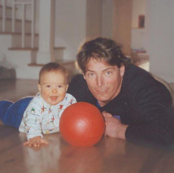 Cristopher Reeeve cu fiul său