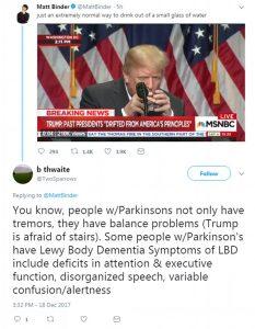 Trump sufera de dementa