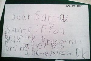 scrisoare pentru mosul