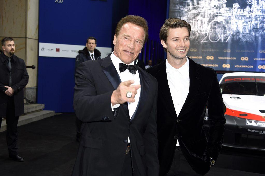 Patrick si Arnold Schwarzenegger
