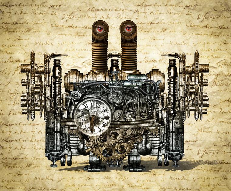 Desenul complicat al unei mașini a timpului, așa cum era ea imaginată în secolul trecut