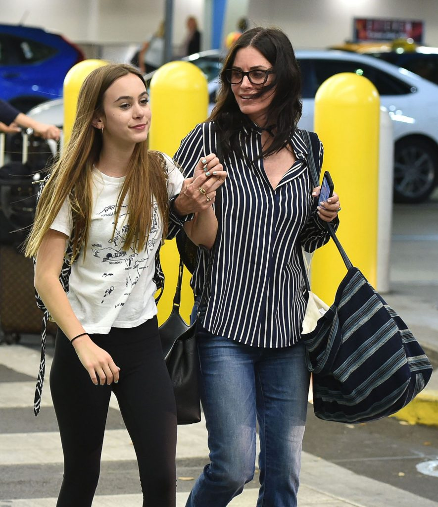 Courtney cu fata ei