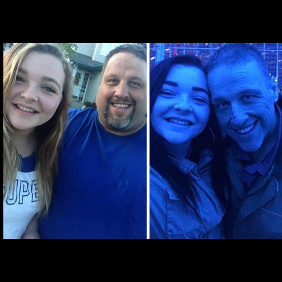 Tony Bussey impreuna cu fiica sa