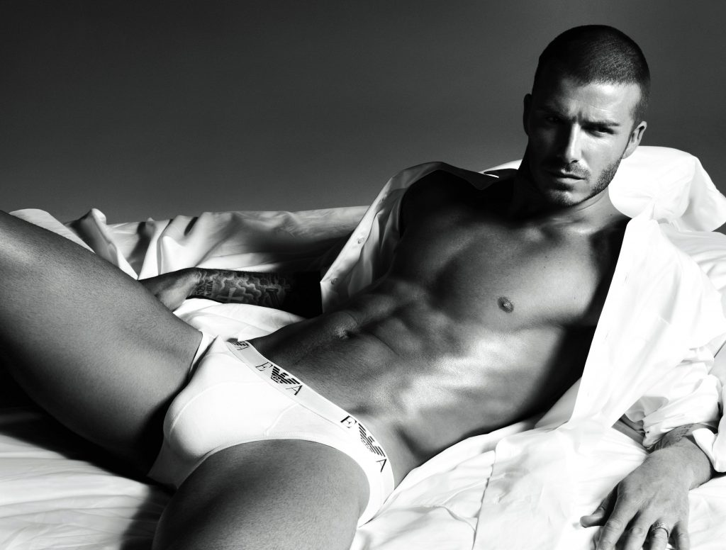 David Beckham in lenjerie intima