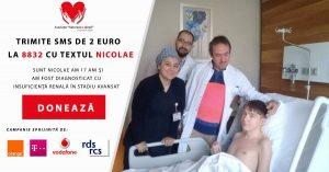 Nicușor Untilă, micul artist orb, are nevoie de ajutorul nostru pentru a trăi! banner pentru donații