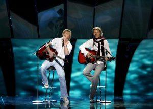 Valter Fridenbergs si MArtins, la concursul Eurovision, în 2005