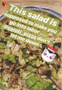 salata care induce travaliul