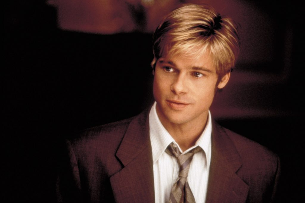 Brad Pitt, in 1998, in Meet Joe Black