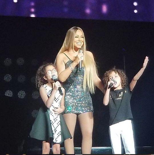 Mariah, impreuna cu cei doi copii