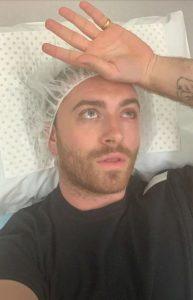 fotografie de pe patul de spital