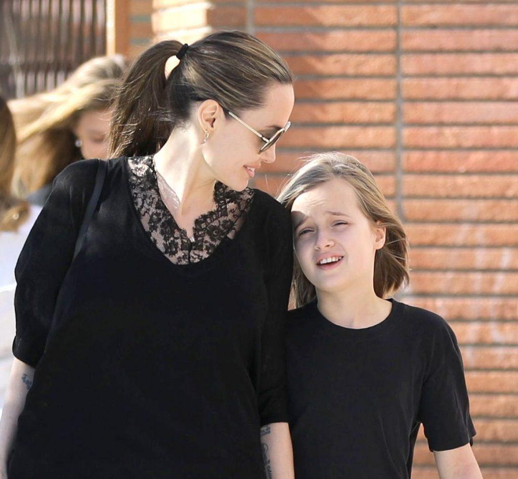 Angelina Jolie si fiica ei cea mica
