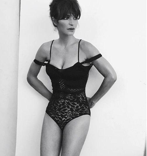 Helena a fost inclusiv model pentru lenjerie intima