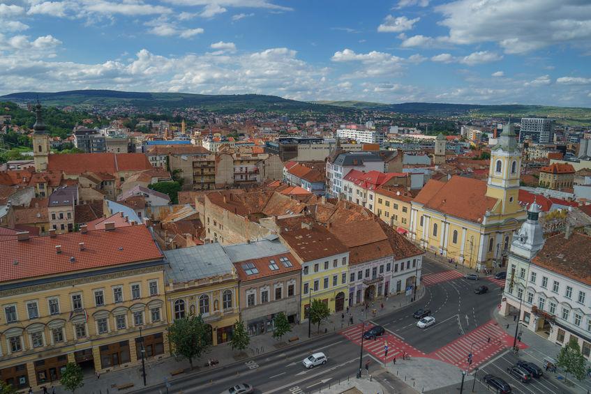 Cluj-Napoca. Clădiri vechi în centrul orașului