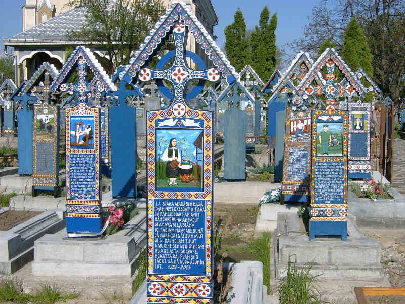 Cimitirul Vesel de la Săpânța, județul Maramureș