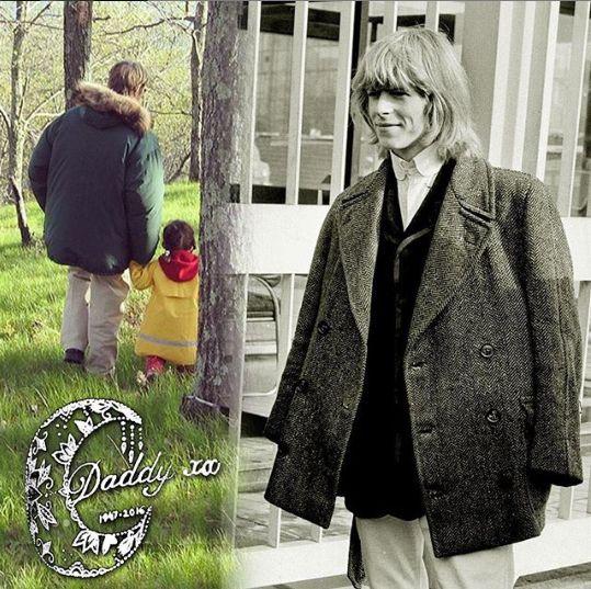 Davdi Bowie, in tinerete, cu fetita lui
