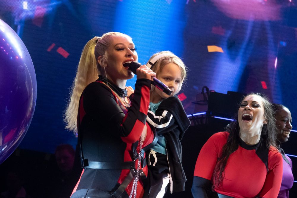Aguilera are 2 copii, un baiat si o fata