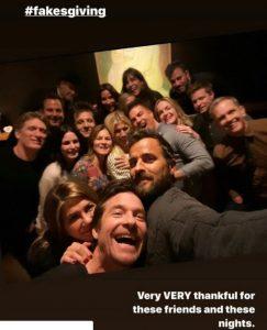 printre invitatii lui Jennifer Aniston s-a aflat si fostul sot, Justin Theroux
