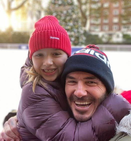 Imaginea cu David Beckham care a isterizat internetul. Și-a sărutat pe gură fiica de 8 ani