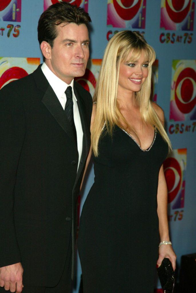 Denise Richards si Charlie Sheen, pe vremea cand formau un cuplu