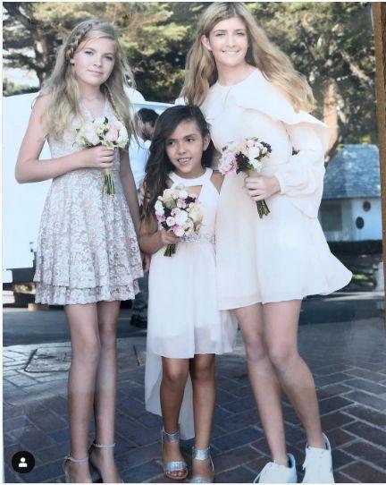 fetele actritei, la nunta ei, de anul trecut