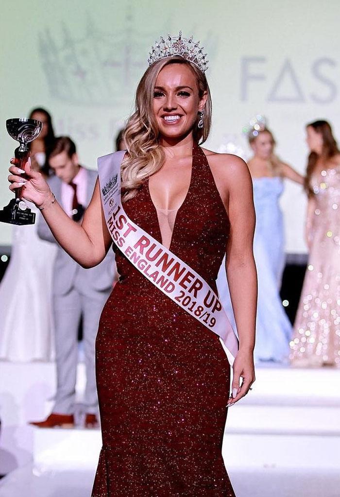 in 2018, cand a castigat primul concurs de miss