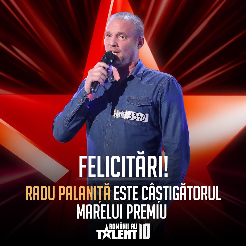 Radu Palaniță câștigător sezonul 10